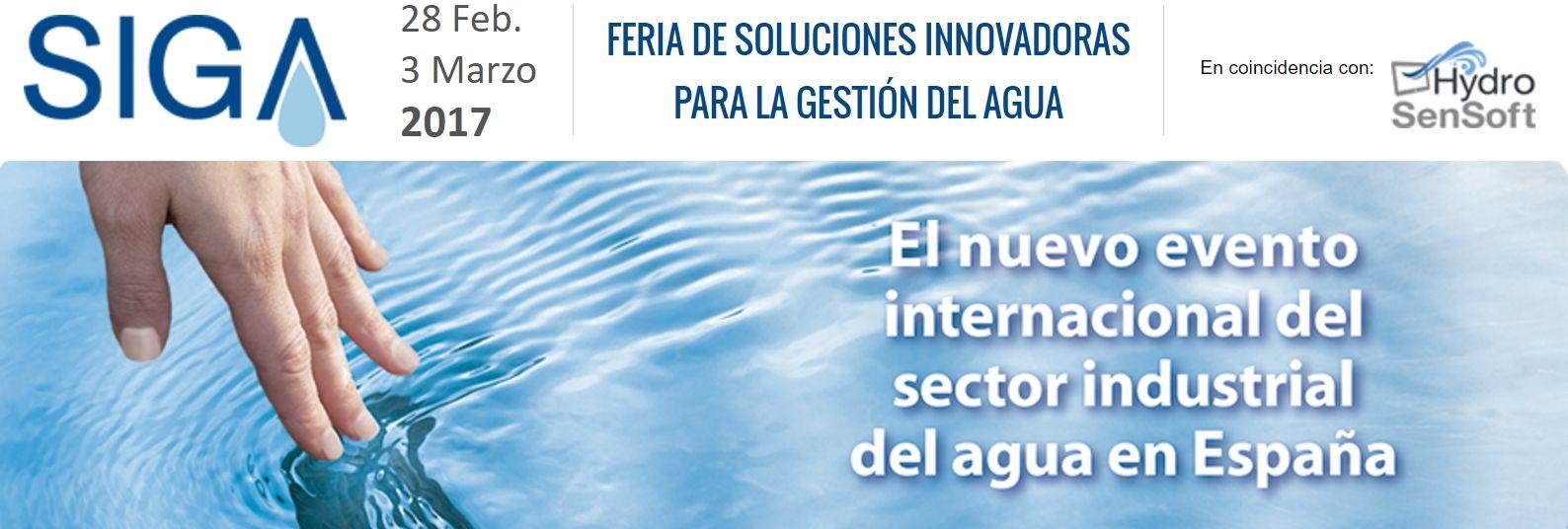 Simulaciones y Proyectos estará presente en la feria internacional del agua SIGA 2017 que se celebrará en Madrid  en Marzo
