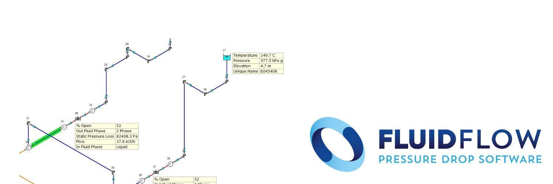 FLUIDFLOW permite simular cualquier tipo de fluido, compresible, incompresible, newtoniano, slurries