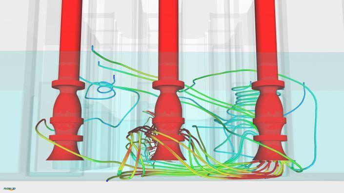 Lineas de corriente de aspiración en bombas verticales