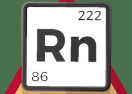 Simular gas radón